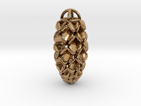 Pinecone Pendant in Polished Brass