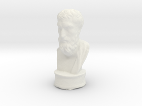 Epicurus 4 inch solid in White Natural Versatile Plastic