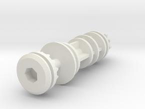 Volvo V50 headlight height adjustment screw in White Natural Versatile Plastic