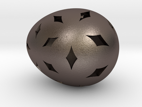 Mosaic Egg #11 in Polished Bronzed Silver Steel