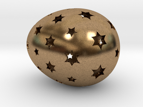 Mosaic Egg #14 in Natural Brass