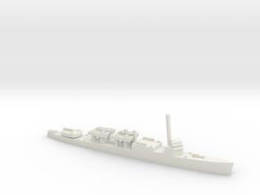 USS McKean APD 1:1800 in White Natural Versatile Plastic