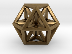 "Small Vector Equilibrium 1"" in Natural Bronze"