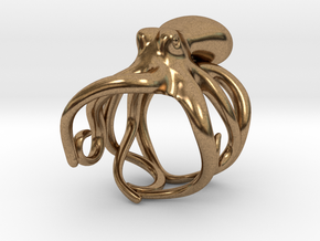 Octopus Ring 17mm in Natural Brass