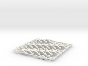 Chain Wave Tile in White Natural Versatile Plastic
