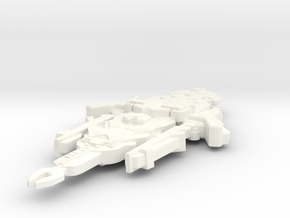 Hekoar Class Freighter in White Strong & Flexible Polished