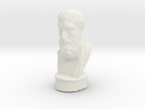 Epicurus 3 inches tall (hollow) in White Natural Versatile Plastic