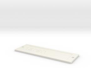 by kelecrea, engraved: harsh in White Natural Versatile Plastic