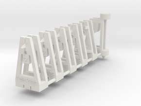TrackToolz Set - Z Gauge in White Natural Versatile Plastic
