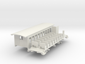 HOn3 30ft Coach A with Interior in White Natural Versatile Plastic