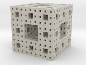 Menger Sponge in Natural Sandstone