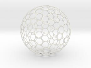 Geosphere Ball 15cm Holes Thicker 2 in White Natural Versatile Plastic