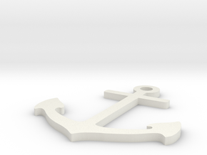 Anchor in White Natural Versatile Plastic