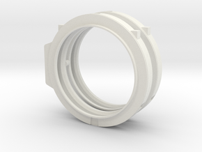 1/72 scale ET ATTACH RING Assembly in White Natural Versatile Plastic