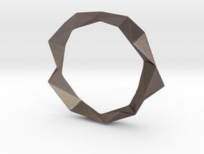 Facelet: Faceted Bracelet in Polished Bronzed Silver Steel