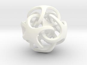 Metatrino Pendant in White Processed Versatile Plastic