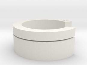 Interlock-ring (medium) in White Natural Versatile Plastic