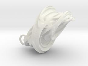 Quaternion Earrings in White Natural Versatile Plastic