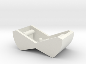 Switch Cover, Klixon 20TC (v0.5) Smooth Front in White Natural Versatile Plastic