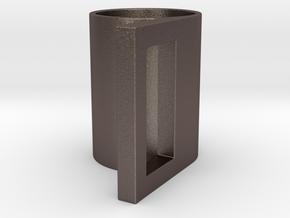 geometric mug 03 in Stainless Steel