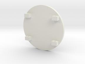 Spartan Shield Silver2 in White Natural Versatile Plastic