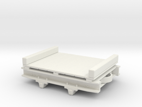 1:35 WDLR trolley flat converted from Decuaville s in White Natural Versatile Plastic