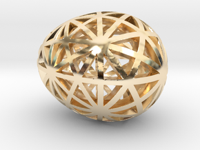 Mosaic Egg #9 in 14K Yellow Gold