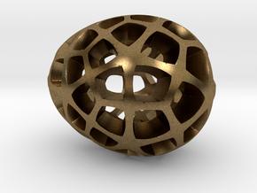Mosaic Egg #5 in Raw Bronze