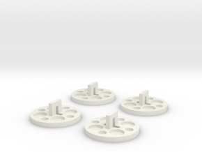120 To 116 Film Spool Adapters, Set of 4 in White Natural Versatile Plastic