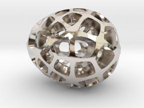 Mosaic Egg #5 in Platinum