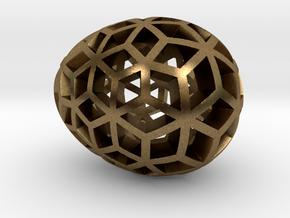 Mosaic Egg #10 in Natural Bronze