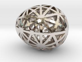 Mosaic Egg #9 in Platinum
