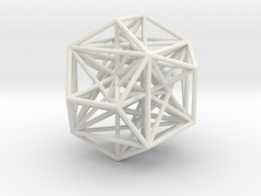 MorphoHedron9 in White Natural Versatile Plastic
