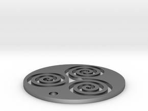 "Triskele (1.25"" diameter) in Polished Silver"