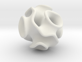 Spherical Gyroid in White Strong & Flexible