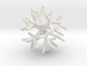 Sphere Tree 5cm (Irregular 4) in White Natural Versatile Plastic