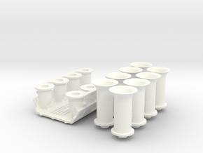 1 8 426 Hemi Hilborn FI System in White Processed Versatile Plastic