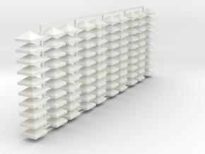 PRR Catenary Rain Caps 5/16 in White Natural Versatile Plastic
