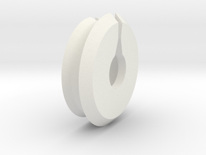 CABLE CAP in White Natural Versatile Plastic