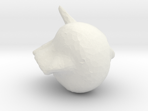 NJSZKI punk-alien-pig in White Natural Versatile Plastic