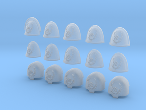 Fist Hammer Wreath - 15, 28mm Large/Shoulder Pads in Smooth Fine Detail Plastic