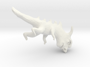 evolutionFish_10 in White Natural Versatile Plastic