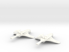 NuTux Class Romulan War Bird in White Strong & Flexible Polished