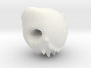 Demon skull in White Natural Versatile Plastic