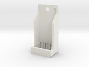 AfroMini Case Top -beta in White Natural Versatile Plastic