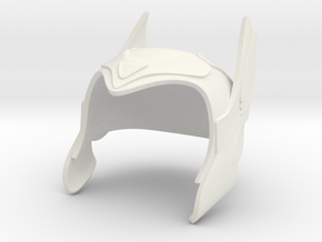 Winged Helmet in White Natural Versatile Plastic