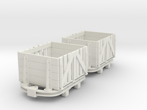On16.5 Skip with wood slatted  body in White Natural Versatile Plastic