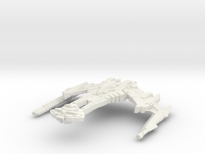 Rutt'Kull Class BattleCruiser in White Natural Versatile Plastic