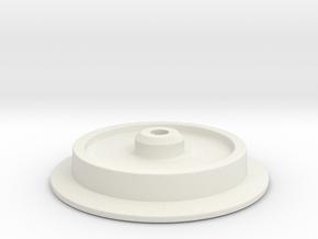 G-scale wheel in White Natural Versatile Plastic
