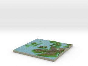Terrafab generated model Fri Sep 27 2013 20:55:02  in Full Color Sandstone
